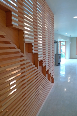 Lummi Island Green Roof House Stair
