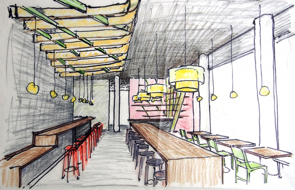 Design for new Cha Cha Cha at South Waterfront