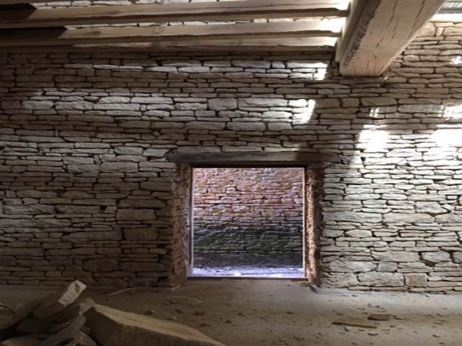 Conversion of 15th Century Barn in Noyers France into Residence Nearing Completion