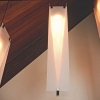 Hanging Lights- Frosted Acrylic Shades w/ Steel support & LED fixtures.