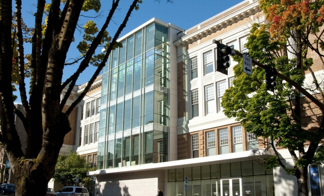 You can now see Levitated Light II by Dale Eldred re-installed in the South glass facade of the historic PSU Lincoln Hall building- above the front entrance. We are excited to have this sculpture now residing in a large light filled dance studio with views of Mt Hood! Interior and […]