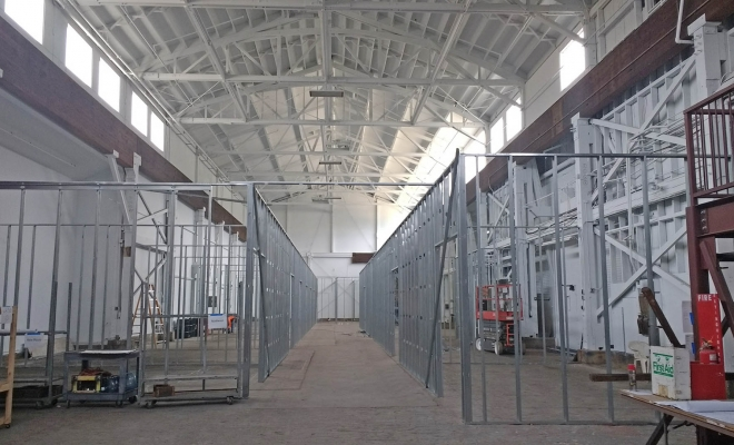 A former heavy industrial boat/ship building facility, this 12,000 SF of high ceiling and clerestory lite space is becoming home to a community of affordable Artist / Creative work spaces. The space is mid-construction and we are excited that our architecture studio has had the opportunity to help bring affordable […]