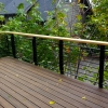 We recently designed and built this highly adaptable metal and wood railing system. In this prototype the steel is powder coated a standard black but many color and texture choices are available still within the cost effective standard powder coatings. The supports are thru-bolted to the deck and made of very […]