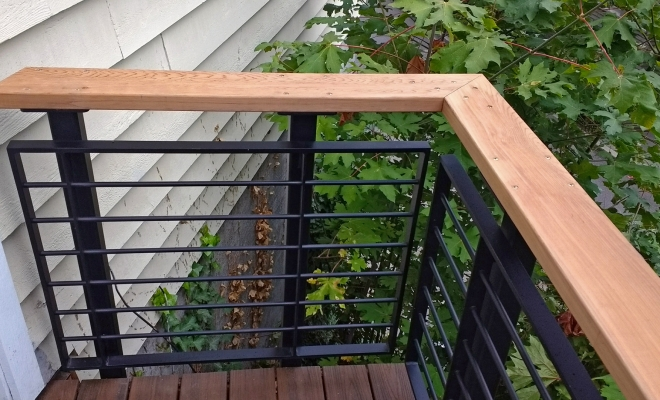 We recently designed and built this highly adaptable metal and wood railing system. In this prototype the steel ispowder coated a standard black but many color and texture choices are available still within the cost effective standard powder coatings. The supports are thru-bolted to the deck and made of very […]